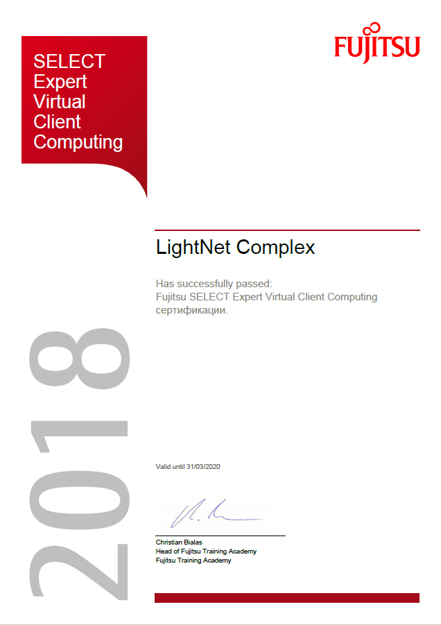 Fujitsu - SELECT Expert Virtual Client Computing
