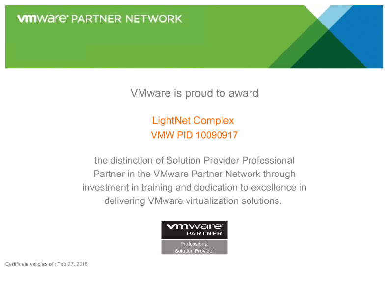 VMware - Solution Provider Professional Partner